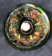Fentongreen Pine Cone Plate 6 1/4 Amazing Color Electric