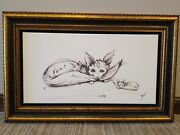 Foxy Giclee On Canvas Sketch Framed Signed 100/360 Nano Lopez Rare Large