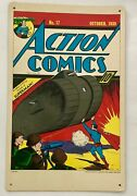 Superman In Action Comics 17 1939 Promotional Sign Or 1970 Uncut Jigsaw Puzzle