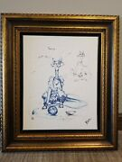 Nano Lopez Lucy Large Giclee On Canvas Sketch Framed Signed 87/280