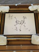 Nano Lopez Dusty Giclee On Canvas Sketch Framed Signed 181/320