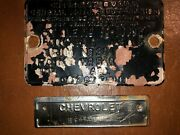 1954 Chevrolet Chevy 54 Cowl And Id Tags Sedan 4 Door Model 210 Style 54-1069w Oem
