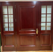 External Entry Mahogany Door With Side Lights