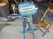 Evinrude Lightwin 3 Hp Outboard Boat Motor For Parts Or Repair