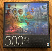 Mb Puzzle 500 Piece Jigsaw Foil - Fantasy Panorama - 24x18