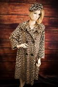 Vintage 1960's Faux Fur Leopard Coat And Hat Condition Pre-owned