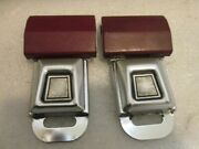 Lot Of 2 Ford Logo Metal Seat Belt Buckle Push Button With Latch