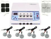 Prof. Home Use 4 Channel Electrotherapy Pain Relief Sticky + Carbon Pads Machine