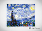My Of Vincent Van Gogh Starry Night - My Mosaic 1of10 - Made With Lego Bricks
