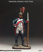 Tin Toy Soldiers Napoleonic Dragoon France 1805 Year 54 Mm 1/32 In Stock