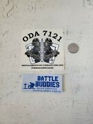 Vintage 7th Special Forces Group Airborne Oda 7121 Stickers Green Beret