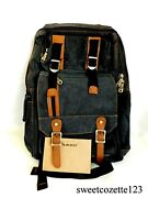 Kaukko Bags Black Backpack New W/ Tags Fs261 Free Usps Priority Ship From Usa