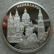 Liberia 20 Dollars 2001 Silver Proof Coin European Series Netherlands