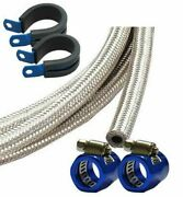 5m M8 8mm Braided Fuel Hose Motorsport Race Trackday Fitting Kit P Clip End