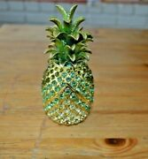Pineapple By Rucinni Trinket Box Crystallized With 5 Inches Tall
