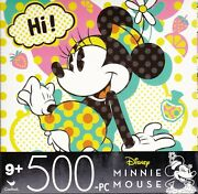 Jigsaw Puzzle Disney Characters Minnie Mouse 500 Piece 14 X 11 Cardinal S2