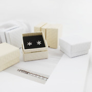 720x Jewelry Cream Couple Rings Gift Box Square Small Hard Earrings Studs Boxes