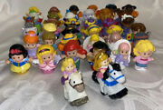 Lot Of 38 Fisher Price Little People Figures Assorted Princess Wonder Woman Etc
