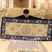 Yilong 2.5and039x6and039 Hand Knotted Corridor Wool Lobby Carpet Hallway Rug Runner
