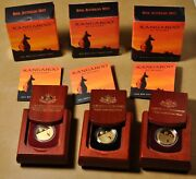 2011 2012 And 2013 Australian Kangaroo At Sunset 25 Gold Coins In Ogp