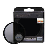 Zomei Optical Neutral Density Filter Nd2 37-82mm For Canon Nikon Sony Pentax