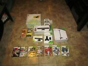 Microsoft Xbox 360 60gb Console Bundle 2 Controllers 9 Games Charge Kinect Zoom
