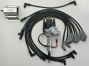 Ford 289 302 Small Cap Hei Distributor +60k Coil + 8.5mm Black Spark Plug Wires
