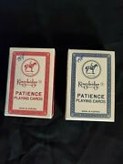 2 Vintage Miniature New Kingsbridge Patience Playing Cards Made In Austria 423