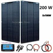 Solar Panel Cell Flexible Photovoltaic System Ce 20a Cable Controller Home Tools