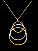 Authentic Marco Bicego Large Jaipur 18k And Diamond Circle Necklace-- A Bargain