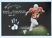 Ricky Williams Hand Print Ustretched 20x36 Canvas Texas Signed Jsa Z65925