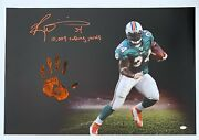 Ricky Williams Hand Print Ustretched 20x36 Canvas Dolphins Signed Jsa Z65929