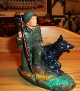 J.h. Miller Soldier With Sentry Dog Vintage Collection Quincy, Illinois