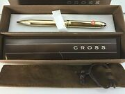 Cross Townsend 18k Gold Filled Ballpoint Pen 772 Mint Condition With Box/manual
