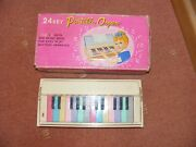 Sun Portable Organ Made In Japan 1950's Battery Operated Childrens Toy Rare