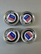 Vintage Bmw Metal Centar Caps Corks With Alpina Stickers No Bbs Rs Rm Hartge