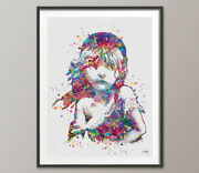 Les Miserables Watercolor Print Victor Hugo Quote Inspirational Library Musical