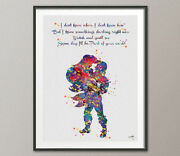 The Little Mermaid Ariel And Eric Disney Couple Watercolor Print Love Quote Art