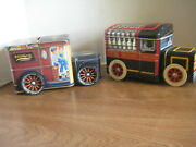 Vintage D.e. Wolygang Candies And Hershey Choc. Company Truck Tin Banks