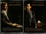 Collateral 27x40 Lot Of 2 Original Ds Movie Posters 2004 Tom Cruise Jamie Foxx