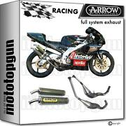 Arrow Race Nocat Full Exhaust Round Made With Kevlar Aprilia Rs 250 Ch 1998 98
