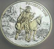 Nd Prospector .999 Silver Round Icg Genuine Pl Gold Gilded Rare Dr