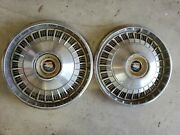 Vintage 15 Buick Hubcaps 2 Used See Pictures