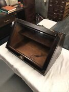 Antique Display Case With Glass