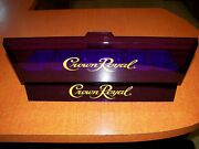 Crown Royal Purple Translucent 5 Bin Condiment Covered Tray Holder. New Unused.