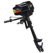 New 3.6hp Outboard Motor Boat Engine W/water Cooling System Heavy Duty 2 Stroke