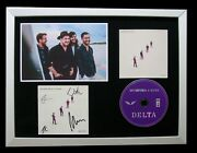 Mumford And Sons+signed+framed+delta+guiding Light=100 Genuine+express World Ship