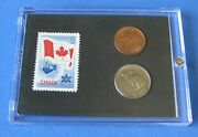 Canada 1867-1967 Confederation Stamp And Coin Set