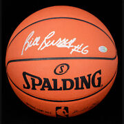 Bill Russell Celtics Autographed Official Nba Leather Game Basketball Hc Hgm