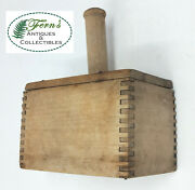 Wooden Collectible Kitchenware Butter Mold Press
